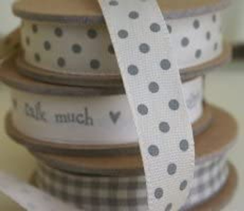 Polka Dot Ribbon Cream/Beige Spot Four Rolls