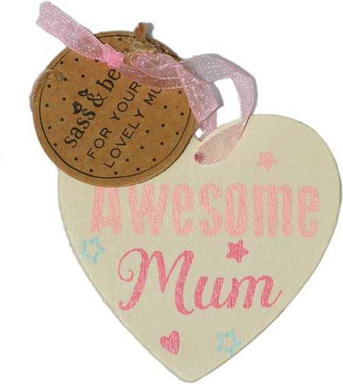 C Awesome Mum Hanging Heart Assorted [Styles May Vary]