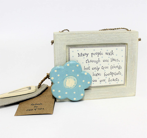 Many People Walk Through Our Lives.... Landscape Plaque  BLUE by East of India
