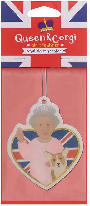 Royal Bloom Scented Queen & Corgi Air Freshener White