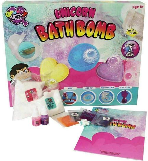 Groovy Labz Unicorn Bath Bombs Maker Set - Create Your Own Bath Bombs with This Fantastic Unicorn Bath Bomb Set