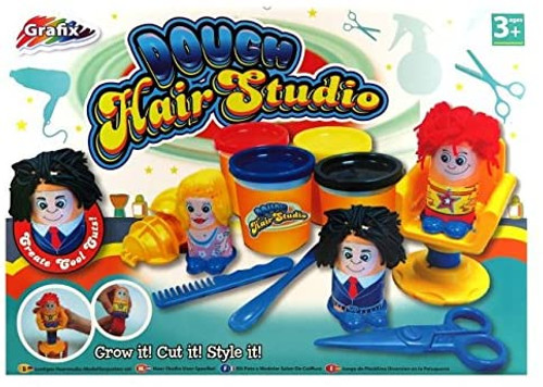 Children's Fun Modelling Dough Hair Studio Grow Style Cut Play Craft Set