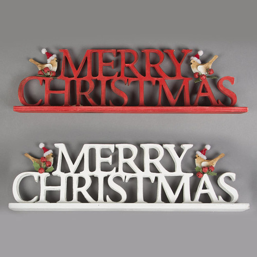 MERRY CHRISTMAS WITH BIRDS DECORATION ASSORTED