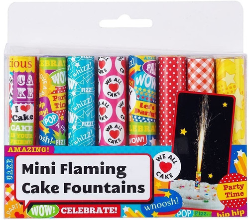 Packs of 8 Mini Cake Fountains Fountain Candles