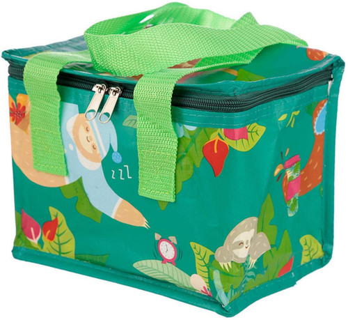 Sloth Design Lunch Box Cool Bag, woven polypropylene, Multi