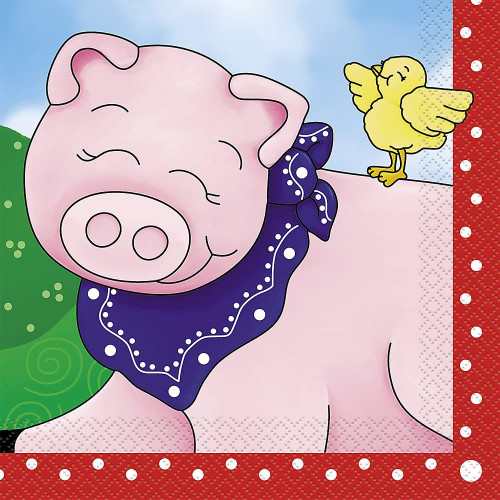 Industries Farm Friends Luncheon Napkins - Pack of 16