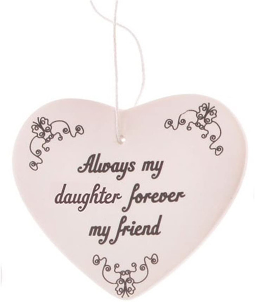 Always My Daughter Hanging Heart Maia Gifts