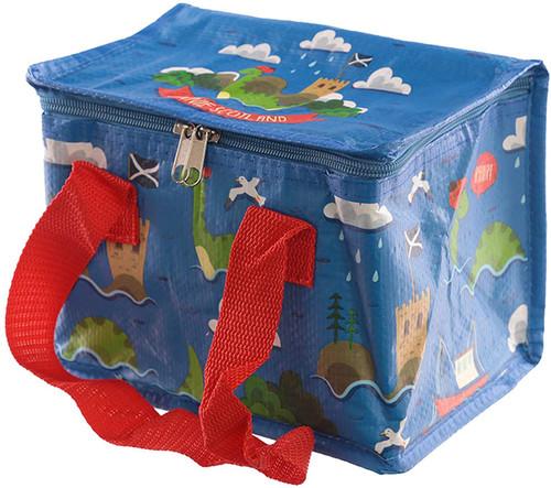 Woven Cool Bag Lunch Box-Bonnie Scotland Nessie Design, Multi