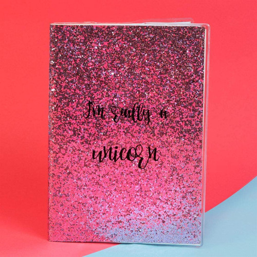 Unicorn Magic A5 Pink Glitter Notebook: I'm Really A Unicorn