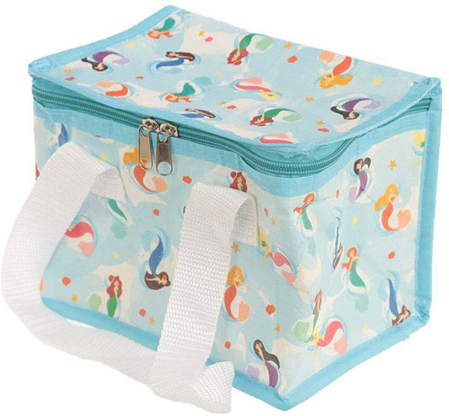 Woven Cool Bag Lunch Box-Enchanted Seas Mermaid Design, fabric, Mixed