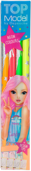 Coloured Pencils TopModel Neon Set of 4