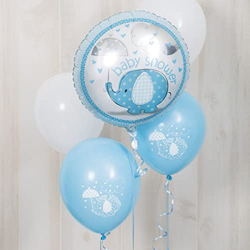 Blue Elephant Baby Shower Helium, Foil Balloon