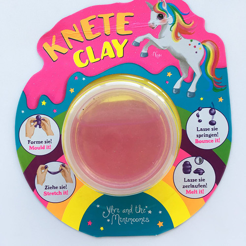 Unicorn Modelling Clay Glitter Children's Gift- Mould & Stretch!