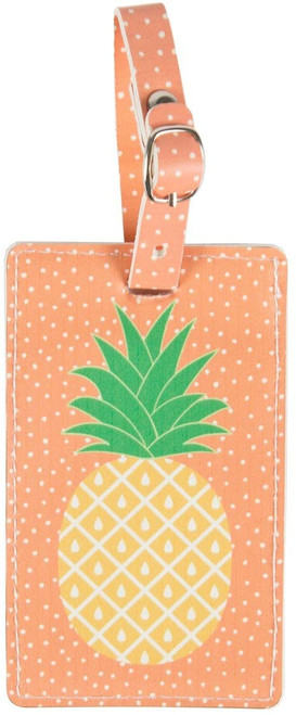 TROPICAL PINEAPPLE LUGGAGE TAG HOLIDAY SUITCASE FUN GIFT