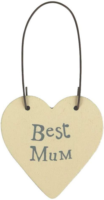 C Wooden Best Mum Gift Tag