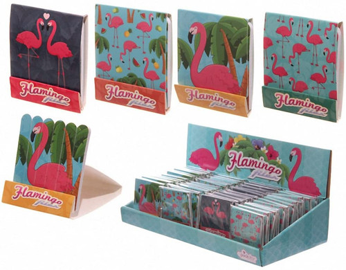 Fun Flamingo Print Matchbook Nail File