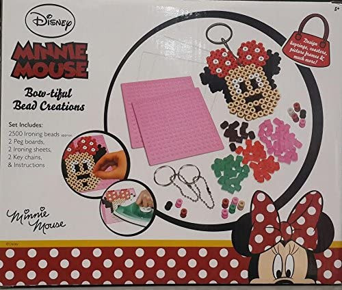 Minnie mouse bead creation set Keyring chains making kit crafts