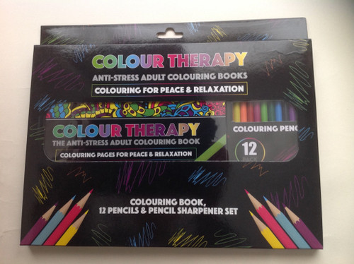 Colour Therapy Anti-Stress Colouring Sharpner Set with Pencils