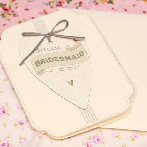 Special Bridesmaid Heart Wedding Card