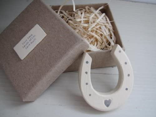 Small Wood Horseshoe in Box