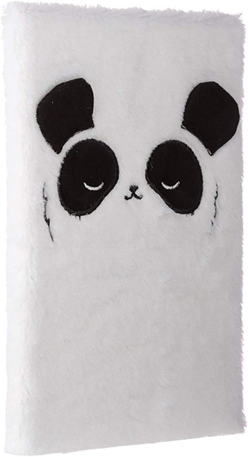 Fluffy Plush Notebook - Panda Design