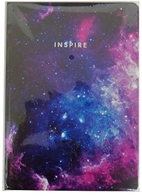 A4 Hard Cover Notebook Metallic Dreams, Inspire - 200 Pages, 5mm Graph Ruled
