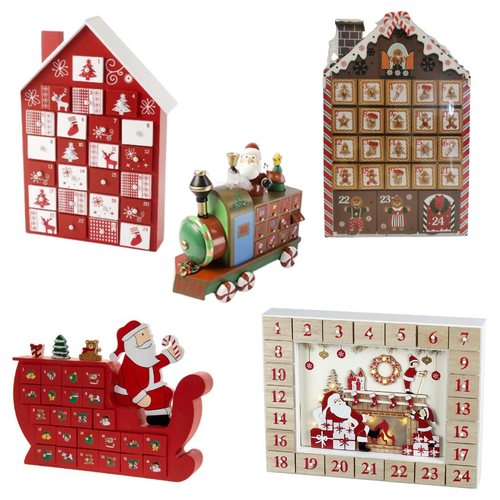 wooden advent calendar, santa advent calendar, advent calendars for Christmas