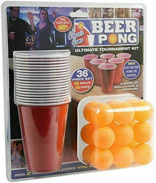 Details about  Beer Pong Drinking Game Fun Adult Table Party Game