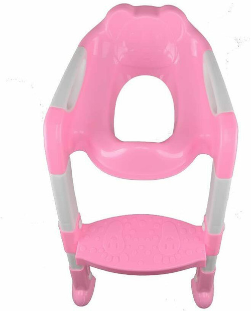 B4E Baby Kids Adjustable Training Potty Child Toilet Ladder Chair Seat Ste