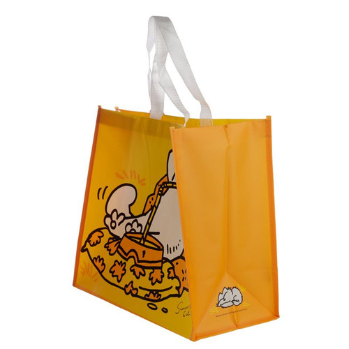 Simon's Cat Yellow Shopping Bag