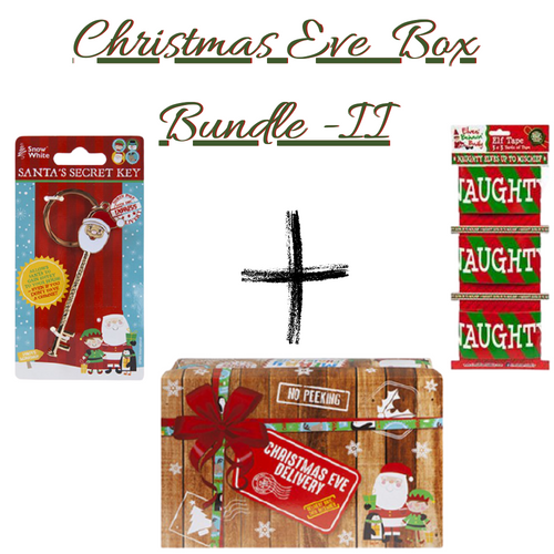 Christmas Eve Box bundle II -   Christmas Delivery Eve Box ,Santa's Secret Key & Elf Tape