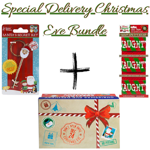 Christmas Eve Box bundle III -  Special Delivery Christmas  Eve Box ,Santa's Secret Key & Elf Tape
