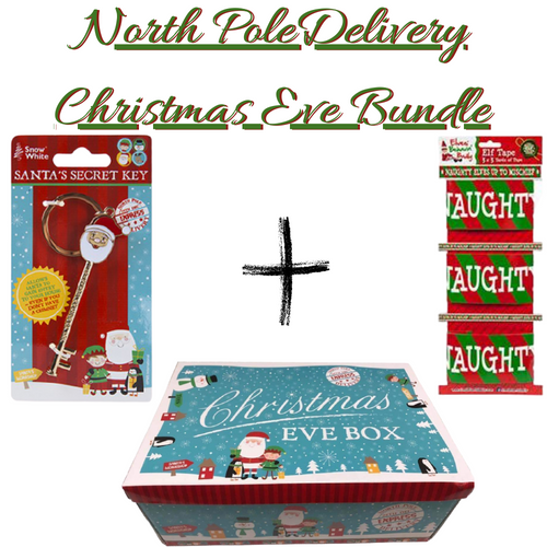 Christmas Eve Box bundle IV - North Pole Christmas Eve Box ,Santa's Secret Key & Elf Tape