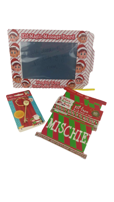 Christmas Bundle V - Large Size Elves Magic Slate Board, Santa's Secret Key & Elf Tape