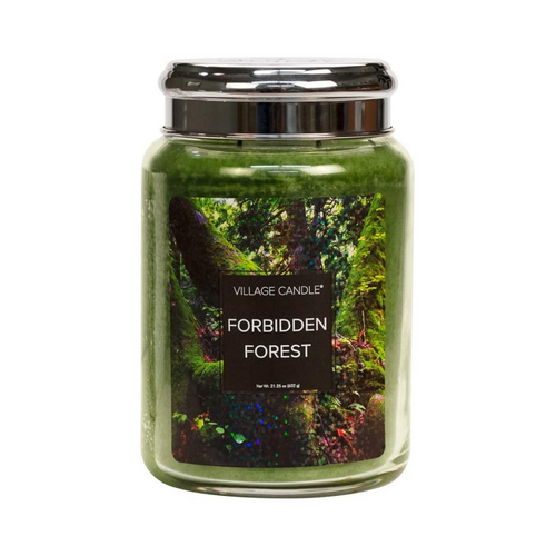 Village Candle Forbidden Forest 26 oz Large Glass Jar Scented Candle