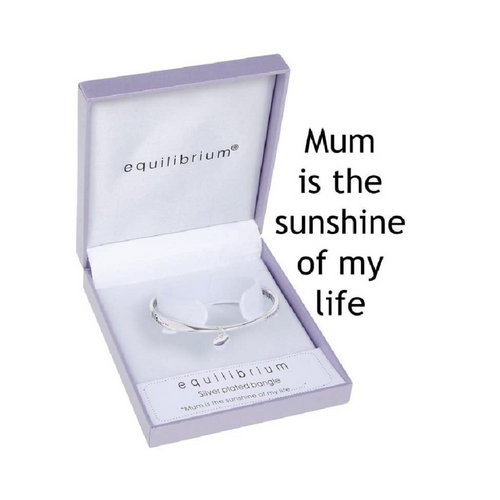 B Equilibrium Jewellery - Dangle Heart Mum/Sunshine Bangle