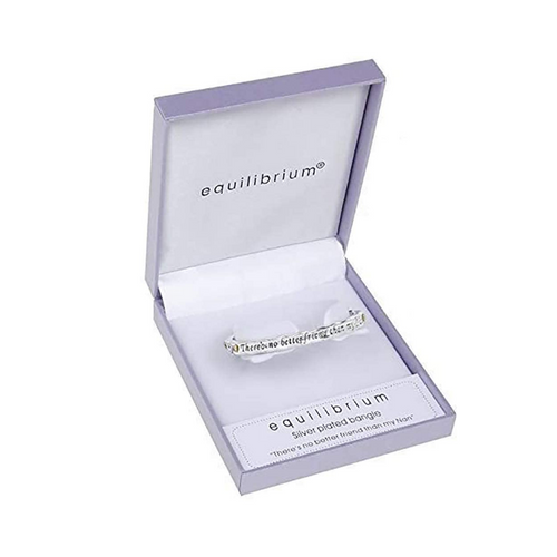 Equilibrium Bangle - There's No Better Friend Than My Nan - Silver Plated by Joe Davies