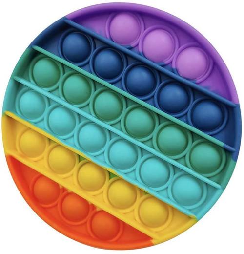 B4E Round Rainbow Push pop it