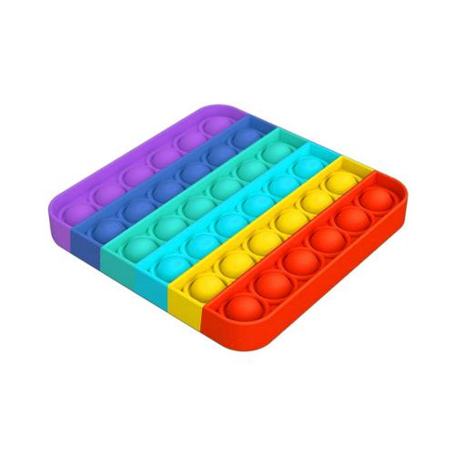 B4E Square Rainbow Push Pop
