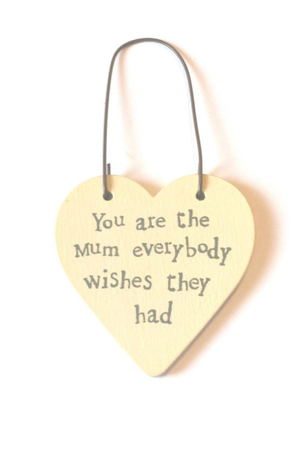 Mini Heart Word Tag Saying You are the mum everybody wishes they had