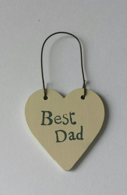 "Tiny Heart Gift Tag ""Best Dad"""