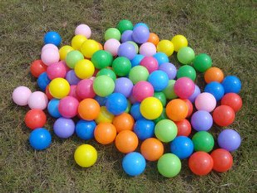 FUN HOUSE STYLE KIDS CHILDRENS PLASTIC PLAY BALLS FOR BALL PITS PEN POOL MULTI COLOURED TOY SOFT - COMES IN A SET OF 100, 200, 300, 400, 500, 600, 700, 800, 900, 1000. (1,000)