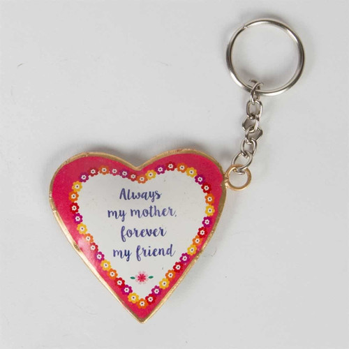 Always Mother Flower Pop Heart Keyring