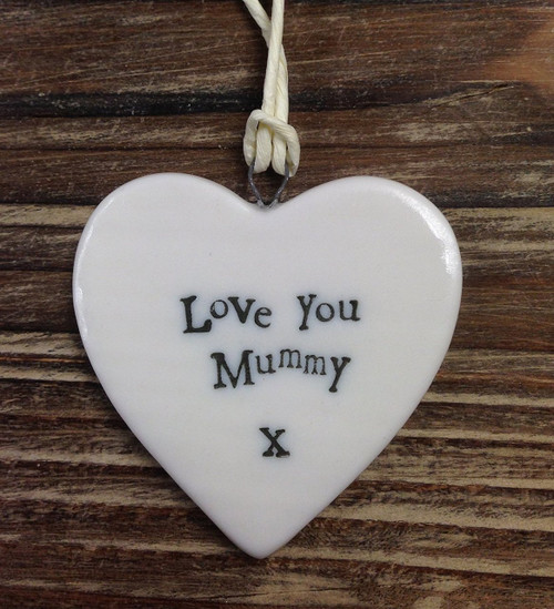 Small Porcelain Heart - Love You Mummy