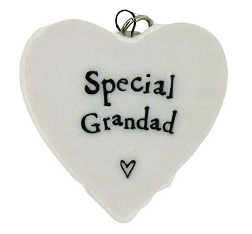 Special Grandad Porcelain Heart Keyring