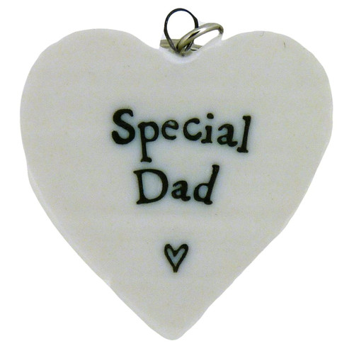 Coingallery East of India Special Dad Porcelain Heart Keyring