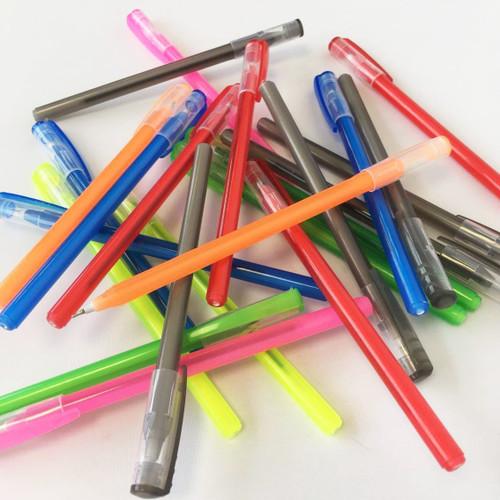 STYLE D Bulk Pack of 50 Multi Coloured Ball Pens Stationary Set