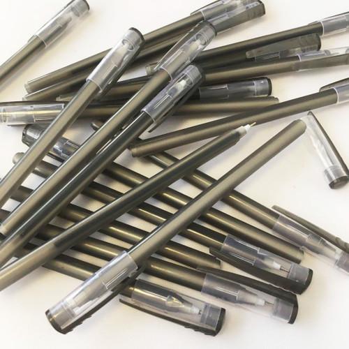 STYLE F Bulk Pack of 50 Black Ball Pens Stationary Set