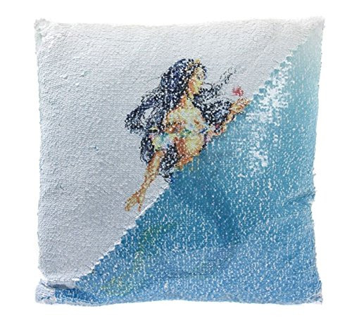 Blue Mermaid Sequin Cushion Reversible Design Home Gift