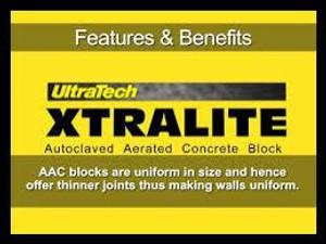 Ultratech Xtralite AAC Blocks 5 Inch